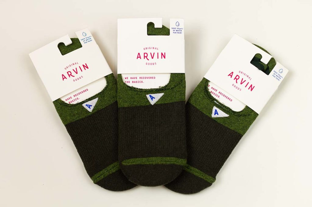 Arvin Goods Sock Review; sustainable socks made from recycled cotton-poly.