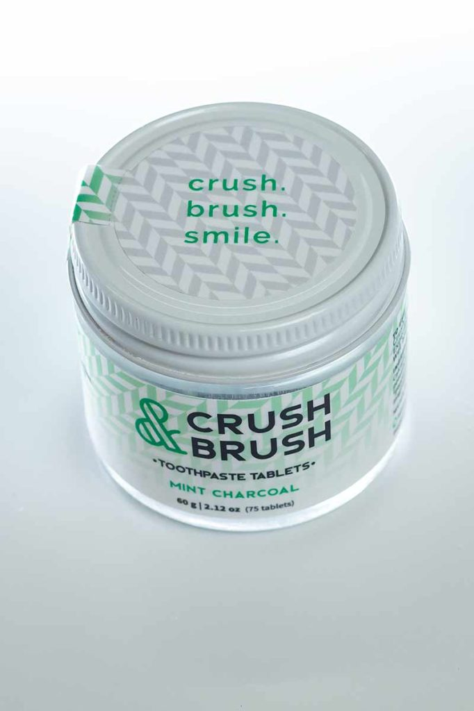 CRUSH AND BRUSH ZERO WASTE TOOTHPASTE TABLETS